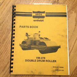 Bros Vm-278 Parts Manual Catalog Book List Double Drum Roller Compactor Guide