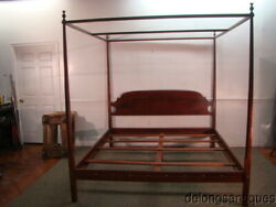 62100solid Cherry King Size Bench-made Poster Canopy Bed