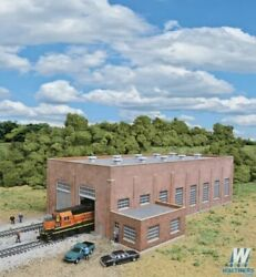 New Walthers Two-stall 130' Brick Diesel House Kit N Scale Train Free Ship Usa