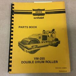 Bros Vm-255 Parts Manual Catalog Book List Double Drum Roller Compactor Guide