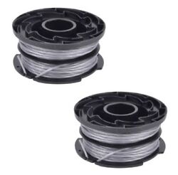 2 X Trimmer Strimmer Spool And Line For Black And Decker Reflex Plus Gl337 Gl315