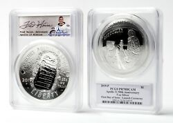 Apollo 11 Silver 5oz Coin - 1st Day Launch - Signed By Fred Haise - Pcgs Pr70