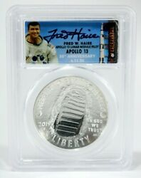 2019 1oz Silver 1st Day Launch Ceremony Signed By Apollo 13 Fred Haise Pcgs