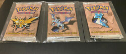 Pokemon Fossil Unlimited Booster Packs Art Set 3 Unweighed