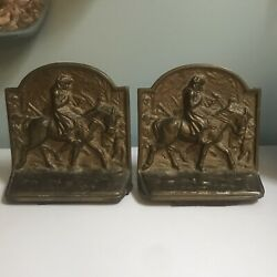 Antique Bookends - George Washington At Valley Forge