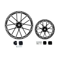 21/23/26/30x3.5and039and039 Front+18and039and039 Rear Wheel Rim Hub Fit For Harley Touring 08-21 18