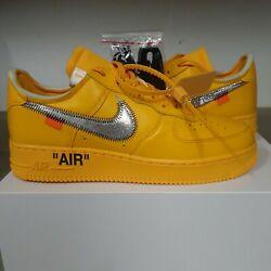 Nike Air Force 1 Low And03907 Off-white Ica University Gold Size 9.5 100 Authentic