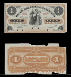 Peru Proof Banknote Face/back Catalog S423