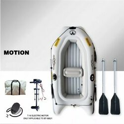 Inflatable Kayak Boat With Motor 3 Person Marine River Raft Fishing Dinghy Boat
