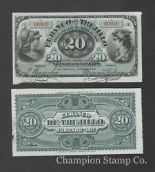 Peru Proof Banknote Face/back Catalog S412