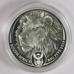 2019 South Africa 1 Oz Silver 5 Rand The Big Five Lion Coin