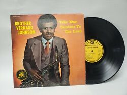 Signed Brother Vernard Johnson Take Your Burdens To The Lord Lp Funk Soul...