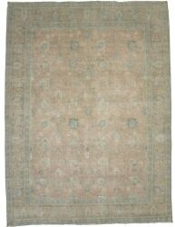 Antique Muted Distressed Traditional 10x13 Oriental Rug Handmade Decor Carpet