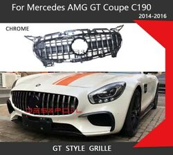 Gt Grill Front Mesh Grill Front Grille For Mercedez Amg Gt Gts 2015-2016