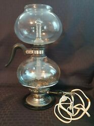 Vintage Pyrex Silex Glass Vacuum Coffee Maker With Working Burner