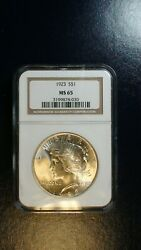 1923 P Peace Silver Dollar Ngc Ms65 Gem Uncirculated 1 Coin Priced To Sell