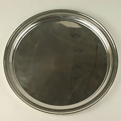 And Co Serving Plate Sterling Silver 21153 Platter 12 Scalloped Edge