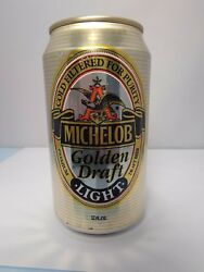 Michelob Golden Draft Light Alum Stay Tab Beer Can Fluted 19 Government Warning