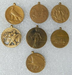 Wwii Occupation Service American Defense Us Navy European African 1945 Medal Lot