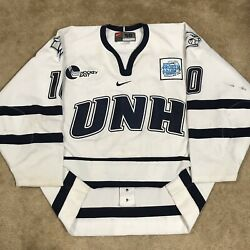 2003 Frozen Four Game Worn Nike Authentic Unh Wildcats Ncaa Used Jersey White 56