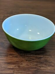 Pyrex Dark Avocado Green 404 Mixing Bowl 4 Qt 1960s/70s Vintage Made In Usa