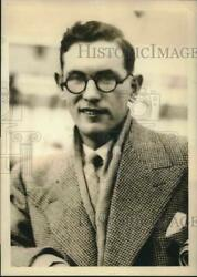1935 Press Photo Charles Foley Maps Out 4 Meals Per Day To Cover 5000 Mile Trip