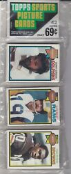 1979 Topps Football Rack Pack Factory Sealed 42 Cards Nice