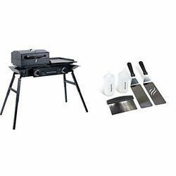 Blackstone Tailgater Portable Gas Grill And Griddle Combo And Griddle Tool Kit Bun
