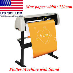 28plotter Machine 720mm Paper Feed Vinyl Cutter Plotter Sign Cutting With Stand