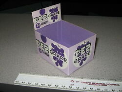 Pez 1960s Candy Pack Store Display Box Grape Unused File Copy