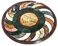 Antique Design Dining Table Top Round Marble Coffee Table For Living Room 30