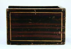 Antique Painted Wood Candlebox Candle Box Sliding Lid