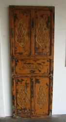 Antique Carved Single Mexican Old 16-primitive-rustic-29x78.5x1.5-barn Door