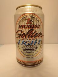 Michelob Golden Draft Light Alum Stay Tab Beer Can Fluted 20 Government Warning