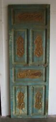 Antique Carved Single Mexican Old 19-primitive-rustic-29.5x84.5x2-barn Door