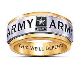 Us Army Stainless Steel Wedding Band Style United States Military Ring Size 6