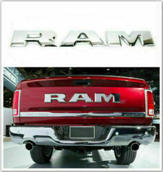 Silver Tailgate Letters Emblem Decal Abs Inserts For 2014 And Up Ram 1500 2500