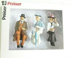 Preiser G Scale 122.5 Three Old Time Seated Figures 45056-3 Clothes Color 3