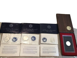 Eisenhower Silver Dollar Lot 1971 Proof, 71 Uncirculated X2 And 1972 Uncircul