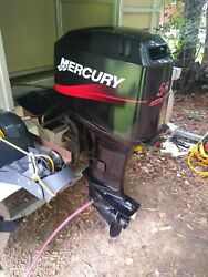 2002 Mercury Outboard 50 Hp 2 Stroke Motor And Prop