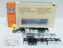 Con-cor 0004-008399 Ho 40' Freightliner Ryder Tractor With 3 Container Chassis