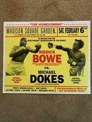 Riddick Bowe Vs Michael Dokes On-site Poster, 1993 Heavyweight Title Fight24x20