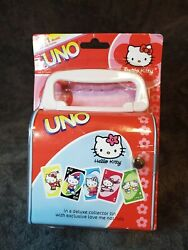 2003 Hello Kitty Uno Card Game In Tin Purse Exclusive Love Me Not Card Rule