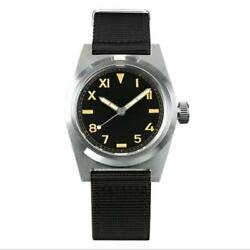 San Martin 38mm Vintage Military Sapphire Nh35 Automatic Mechanical Men Watches