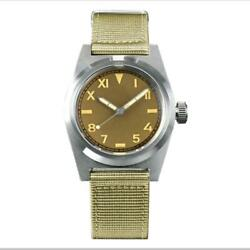 San Martin 38mm Vintage Military Sapphire Nh35a Automatic Mechanical Men Watches