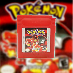 Pokemon Game Card Crystal Red Yellow Blue Silver Green Gold Gb Gbc Gba Gameboy