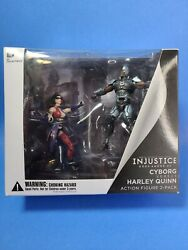 Harley Quinn Injustice Gods Amoung Us Cyborg Dc Collectibles 2 Pack Comic