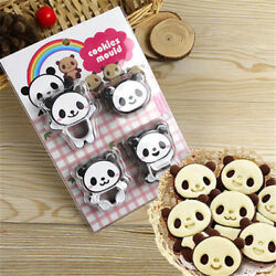 Panda Cookies Sandwich Cutter Biscuit Bread Cake Mold Pastry Sugarcraft_vvld Pq