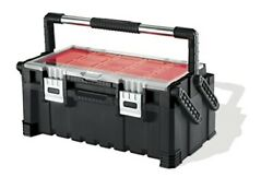 New 22 Inch Cantilever Plastic Portable Tool Box Organizer With Metal Latches