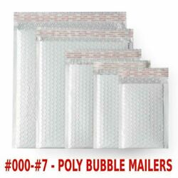 Poly Bubble Mailers Padded Envelope Shipping Bags Self Sealing 1000 500 250 200